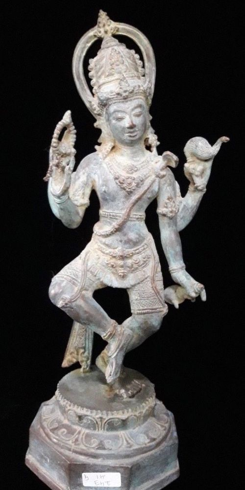 Shiva creator dance Bronze statue Brass Statue Ganesha Meditation Yoga art