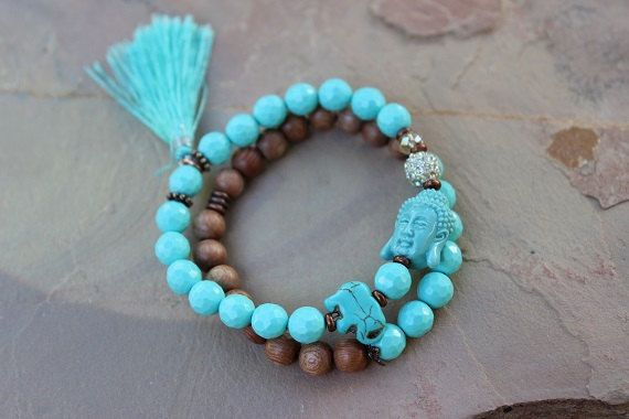 Chakra Bracelet Set Buddha Elephant Shamballa Mala by gotchakra