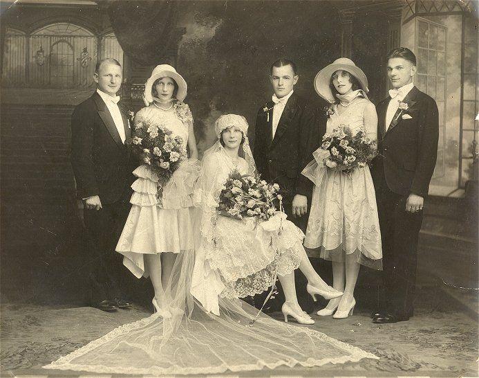 1929 wedding party