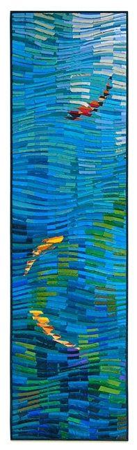 Koi Bannery, cut silk construction by Tim Harding