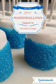 Fun and easy party food. Inspired by the Disney movie Frozen. Elsa would be proud don't you think?