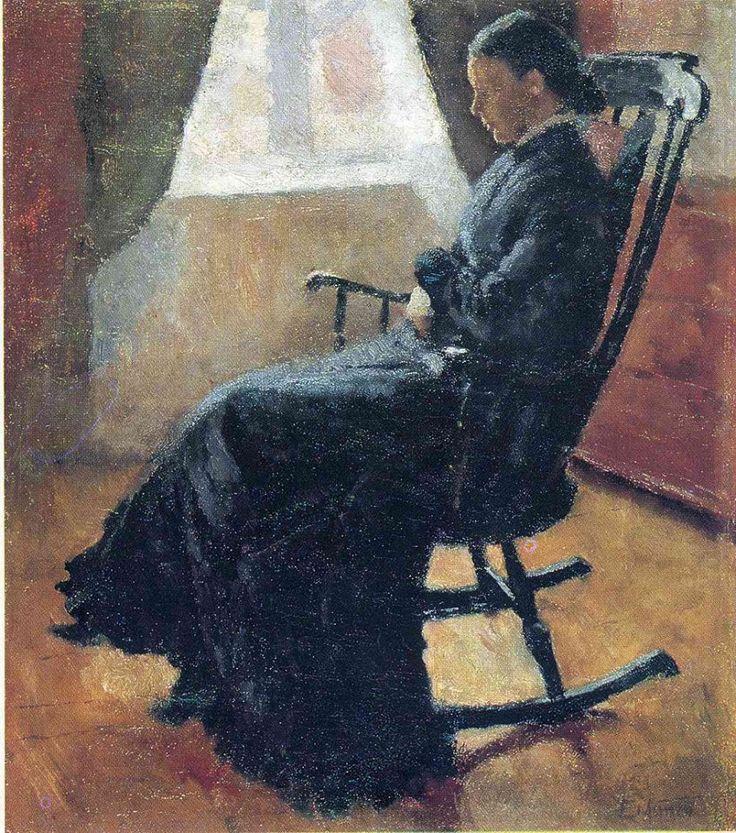 Edvard Munch- Aunt Karen in the Rocking Chair 1883