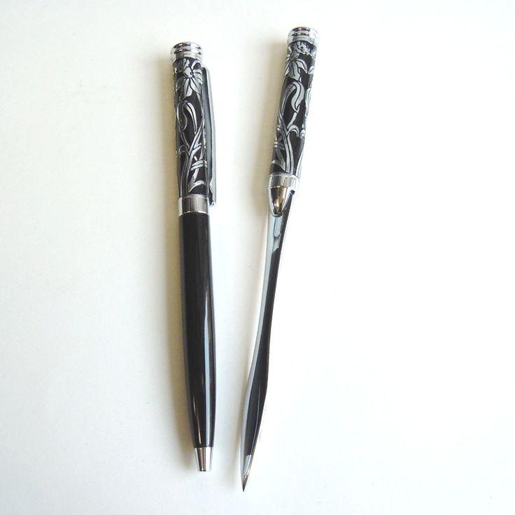 desk accessories letter opener | ... Gifts :: Desk Accessories :: Welsh Emblem Pen & Letter Opener Set