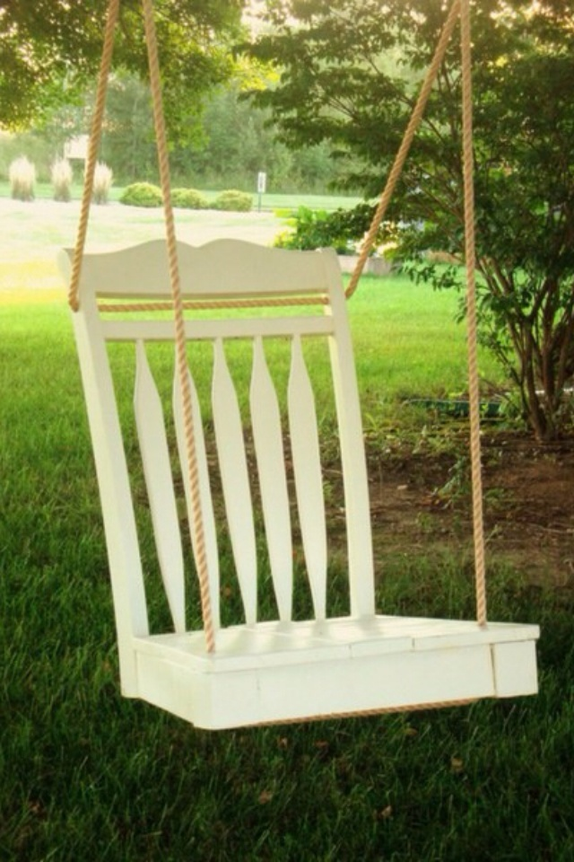 DIY: swing out of old chair