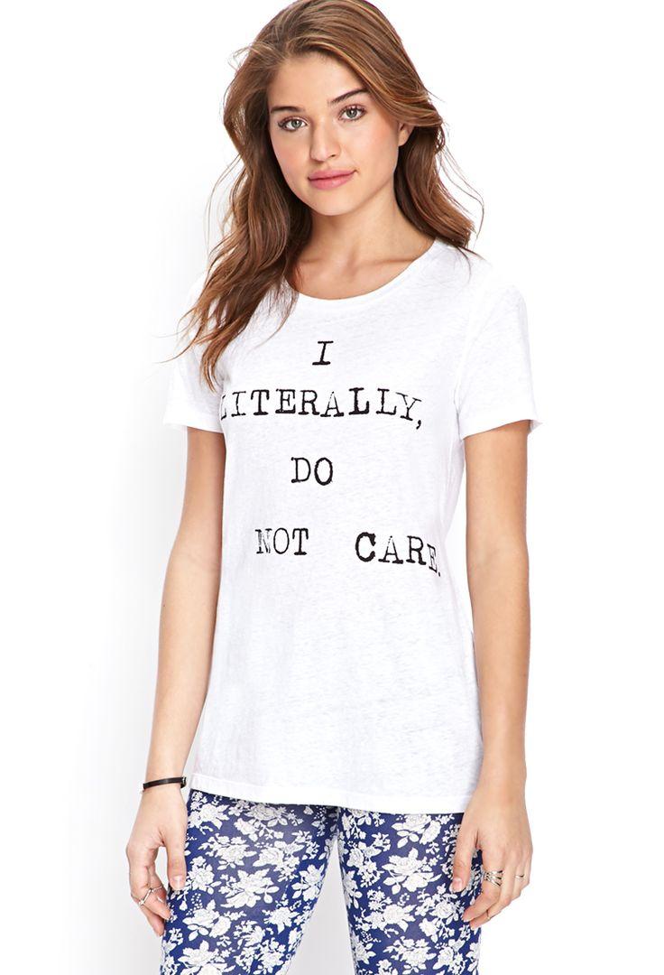 Careless Slub Knit Tee - Clothing - Tops - 2000060806 - Forever 21 EU