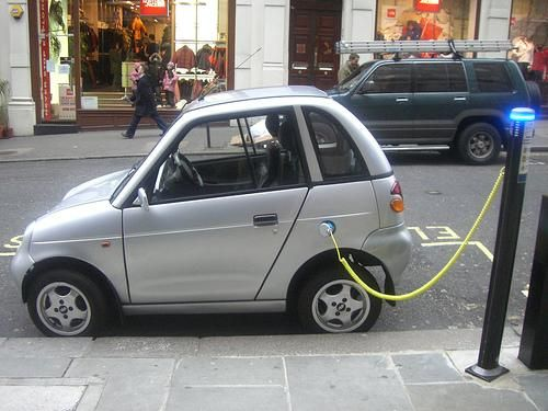 not possible just a few years ago electric cars recharging by the side of the street