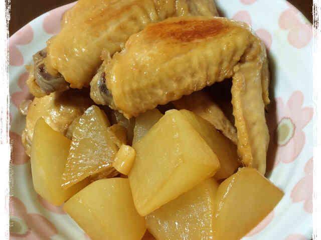 ✩鶏手羽先と大根の煮物✩の画像