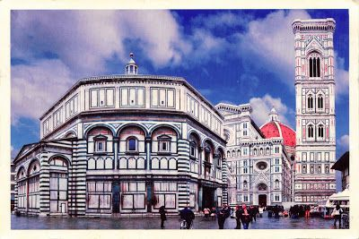 "ITALY (Tuscany) - The Baptistery of Saint John and Giotto's Campanile - part of ""Historic centre of Florence"" (UNESCO WHS)"