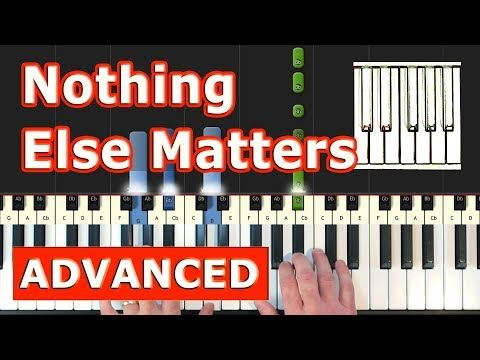 Metallica Nothing Else Matters Piano Tutorial Easy Sheet
