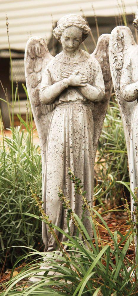 Old Garden Statue: Vintage Style Angel Outdoor Garden Statue Sculpture By