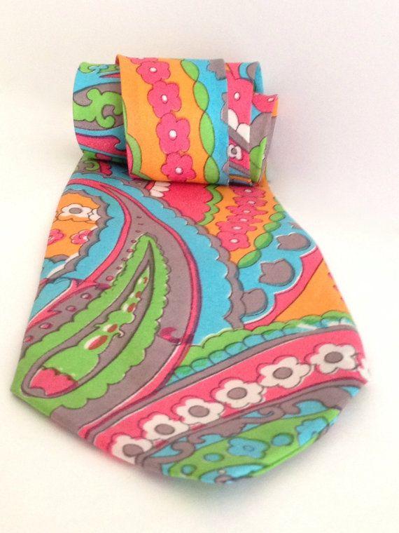 Ya Baby Groovy Retro Pop Art Peter Max Style Silk by RetrouverBiz, $20.00