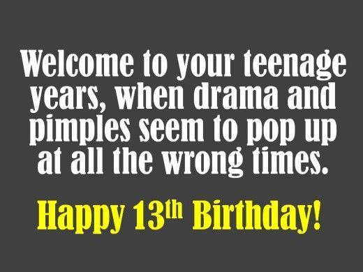 13th Birthday Wishes What To Write In A Card Birthdayquotes