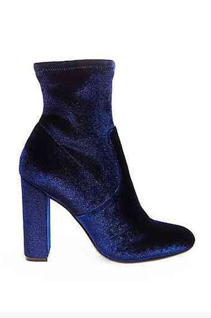 Velvet boots will add dimension to your look. Steve Madden Edit, $99.95, available at Steve Madden.  #refinery29 http://www.refinery29.com/best-womens-ankle-boots#slide-26