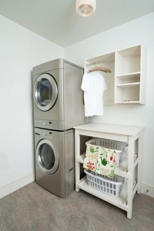 pictures of stackable washer and dryer in garage - Google Search