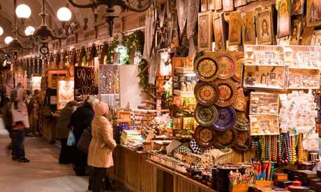 krakow poland shopping - there's a huge outdoor market that has lots of stalls and lots of bargains