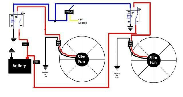 Diagram Relay Wiring Diagram For Dual Fans
