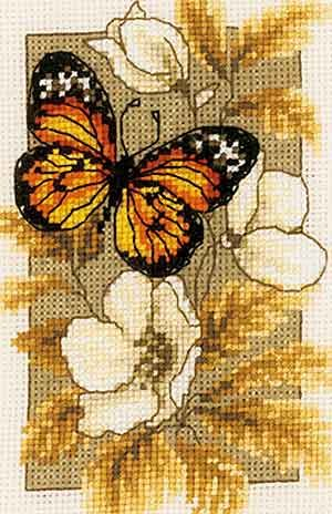 Butterfly Cross Stitch Kit By Vervaco (one)