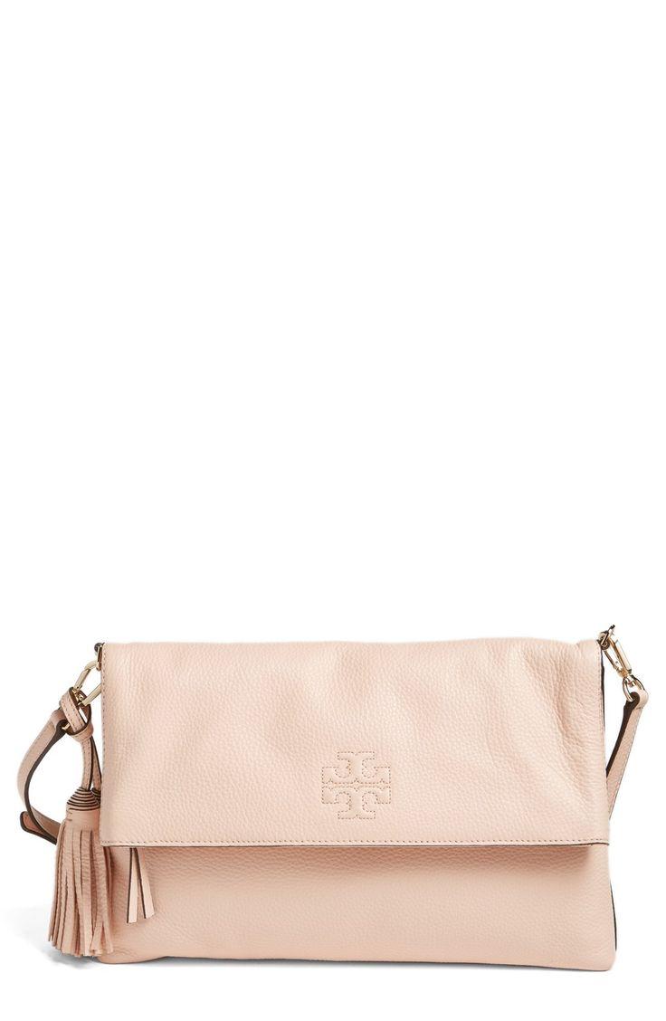 'Thea' Leather Foldover Crossbody Bag