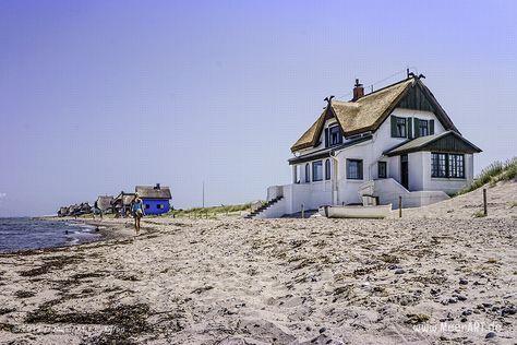 Ferienhäuser an der Ostsee am Strand von Heiligenhafen