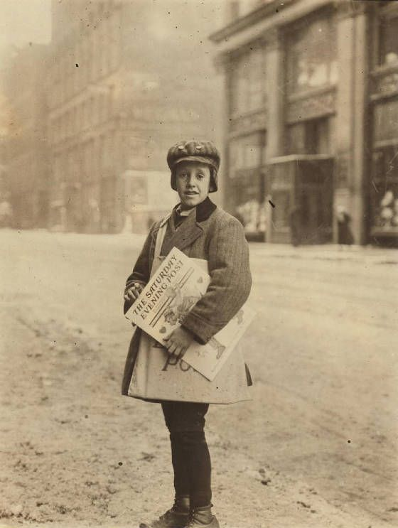 Rochester Ny February 1910 Newsie On Main St At 2 Pm Said Our