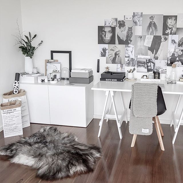 Scandinavian inspired workspace. Interior styling and photography by Justine Ash