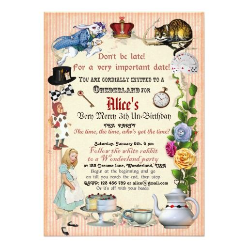 455 best tea party birthday invitations images on pinterest alice in wonderland birthday party invitation zazzle invitationsbirthday invitationsinvitation cardsshower stopboris Image collections