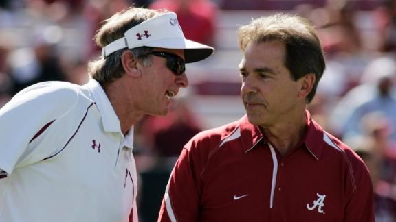 Spurrier Praises Saban's Recruiting 2014