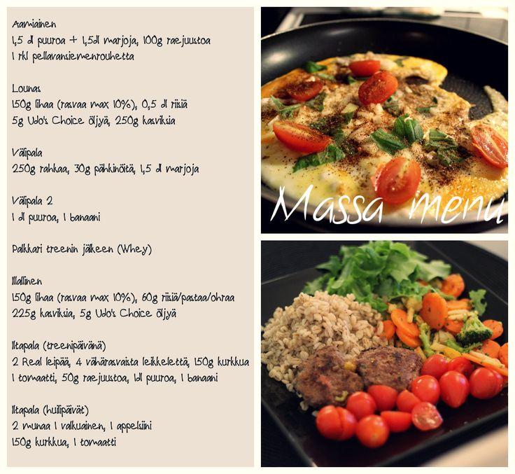 Minifitness dieetti ruokavalio massakausi vs dieettikausi vertailua