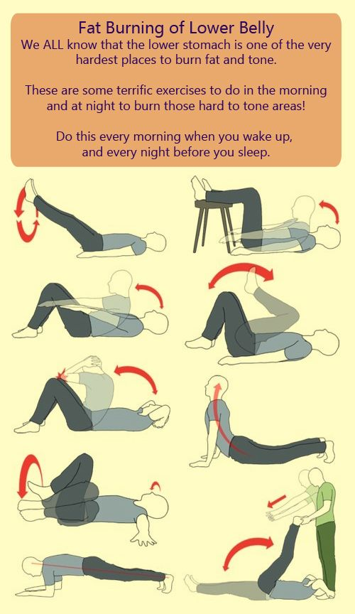 We ALL know that the lower stomach is one of the very hardest places to burn fat and tone. These are some terrific exercises to do in the morning and at night to burn those hard to tone areas! Do this every morning when you wake up, and every night before you sleep.