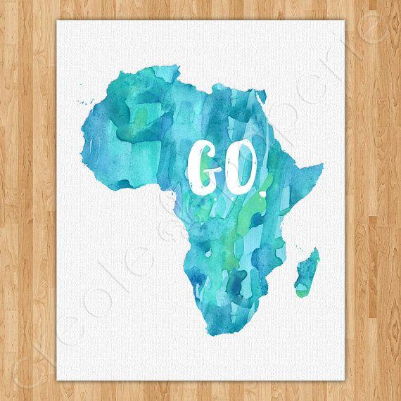 Go Africa Watercolor