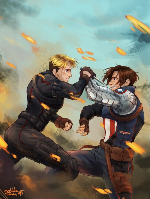 The sad thing is that in Captain America the fallen son, Steve died and Bucky took to the roll as the new Captain America. He ended up having to face a clone of Steve who was trying to kill him and he almost did, it killed him knowing that it wasn't his Steve and feeling that he might not see his real Steve ever again...