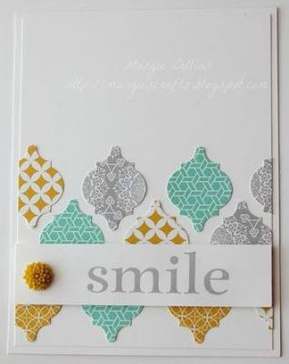 Mosaic Punch, Mosaic Madness, Eastern Elegance DSP, Stampin' Up! Margie Collins Demonstrator