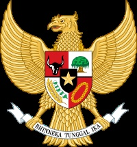 our national emblem - garuda pancasila, with the national motto bhinneka tunggal ika (unity in diversity)