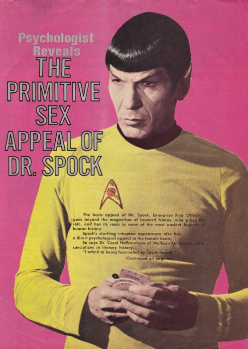 Psychologist Reveals The Primitive Sex Appeal of Mr. Spock