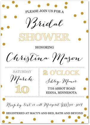 Modern & Tendy Bridal Shower Invitations