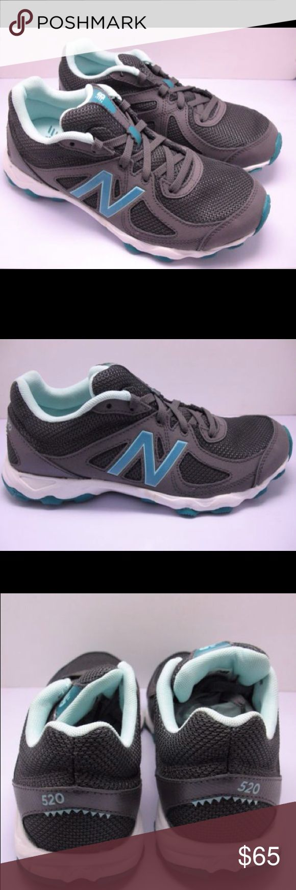 New Balance Women's 520 Athletic Shoes, NEW New Balance Women's 520 Athletic Shoes, Size 7 M, New without Box  Details: New Balance Size: 7 M Color: Dark Gray/Turquoise  Mesh synthetic Upper Man made sole New Balance Shoes Athletic Shoes