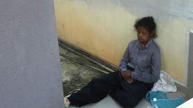 """A domestic worker in Malaysia has died after suspected abuse by her employer, including being made to """"sleep outside with the dog,"""" a politician has said.  The maid, known only as Adelina, came from Indonesia and worked for a family in Penang.  Her employers are accused of not feeding Adelina and allowing her wounds to go untreated."""