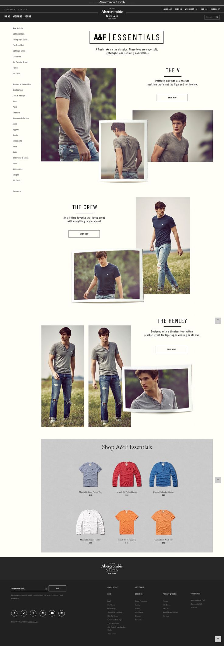 Product Landing (A&F) - flexible layout - specific product listings at btm as CTA