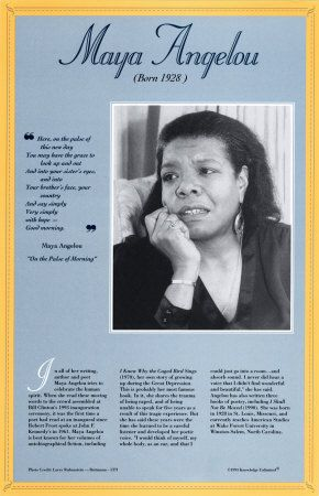 research on maya angelou Read this biographies essay and over 88,000 other research documents maya angelou's biography maya angelou is a multi-talented person she is.