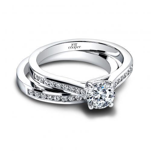 Jeff Cooper Elyse Wedding Set With Delicate Channel Round Brilliant Diamonds Styles 3322 B Diamond Engagement Rings Pinterest