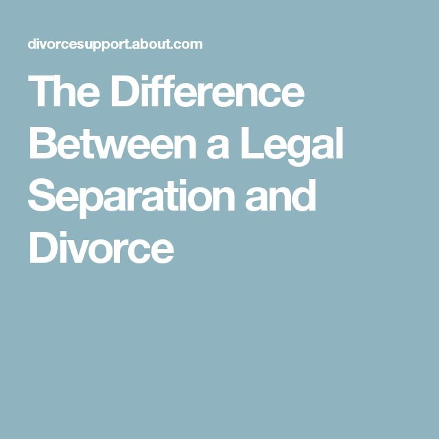 The Difference Between a Legal Separation and Divorce