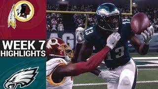 Redskins vs. Eagles | NFL Week 7 Game Highlights Madden 18