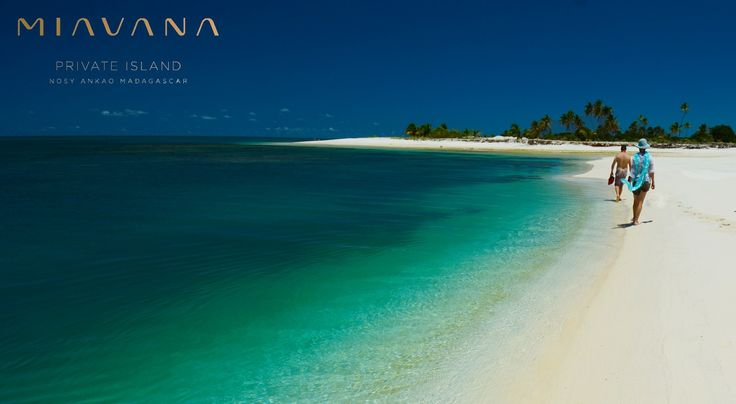 Walking along the beach at Nosy Ankao, Madagascar, Miavana opens October 2016