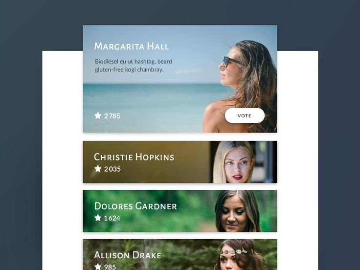 Daily UI challenge #019  Leaderboard  by CaFa