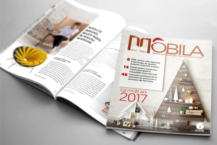 Design grafic și tehnoredactare revista Mobila nr. 6
