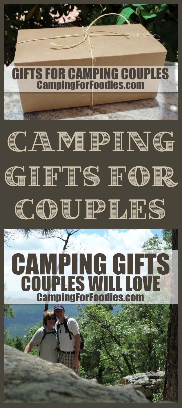 CAMPING GIFTS COUPLES WILL LOVE! Looking for unique gifts for couples who camp? We found tons of them! From amazing active gear and cool electronic devices to hip bar accessories, cute home decor, fun vehicle gadgets, sassy clothing and more! We've got a great list of camping gifts couples will love! Camping Hacks, Camping Tips, RV Camping, Tent Camping, Brilliant Camping Ideas