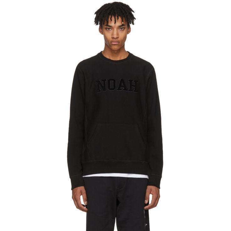 Noah NYC - Black Logo Core Crew Sweatshirt