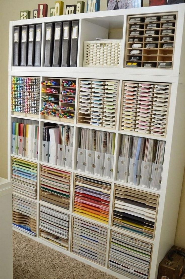 24 craft room storage ideas and tour of my creative space on creative space saving cabinets and storage ideas id=19393