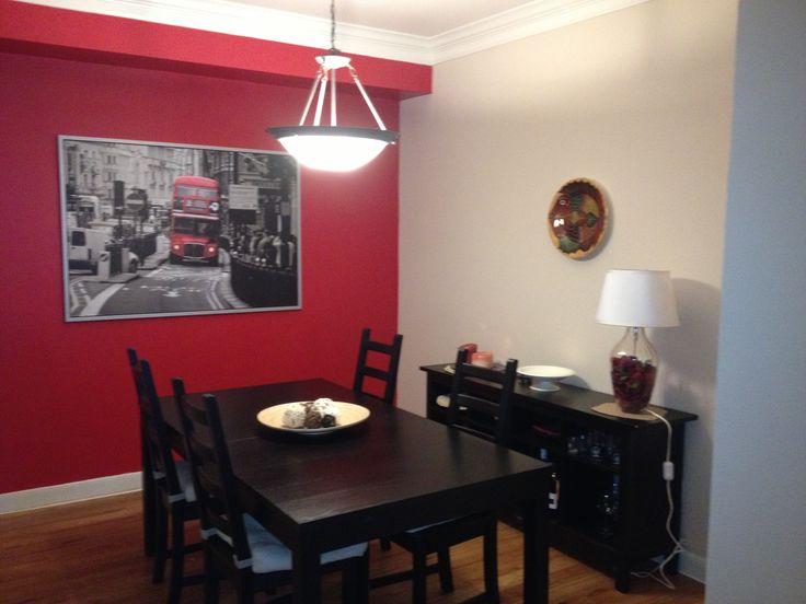 Red Dining Room Bam New Condo En 2019 Red Bedroom