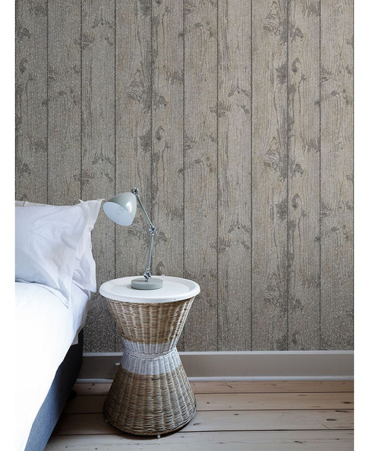 The Crown Luxe Windward Wood Wallpaper offers a realistic textured wood effect with a glitter twist. Free UK delivery available
